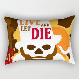 James Bond Golden Era Series :: Live and Let Die Rectangular Pillow
