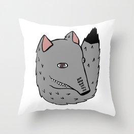 Wolf Cutie Throw Pillow