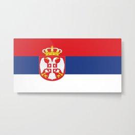 flag of Serbia-balkan,serbian,europe,yugoslavia, Pannonian,Belgrade,Novi Sad,nis,kragujevac Metal Print