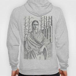 Frida Khalo and trees Hoody