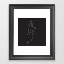 Curtsey Framed Art Print