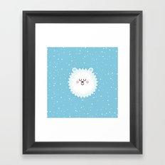 Sleeping Polar Bear Framed Art Print