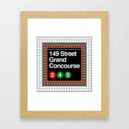 subway grand concourse sign Framed Art Print