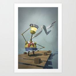 Sailor-Bot Art Print