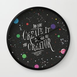 """Qur'an 56:59 - """"Do you create it or are We the Creator"""" Wall Clock"""