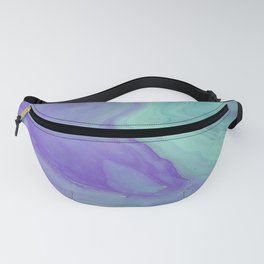 Blue Purple Flow - Fluid Acrylic Abstract Painting Fanny Pack