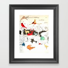 Animal illustration Framed Art Print