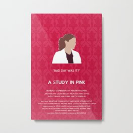 A Study in Pink - Molly Hooper Metal Print
