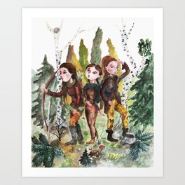 Sarmatian sisters Art Print