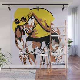 The yellow jersey (retro style cycling) Wall Mural