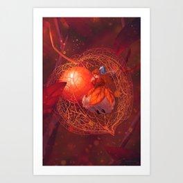 lantern cradle Art Print