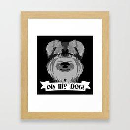 Oh My Dog Framed Art Print