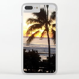 Waikiki Dusk Clear iPhone Case