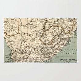 Vintage Map of South Africa (1889) Rug