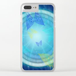Migrating Butterflies Clear iPhone Case