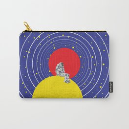 Lone Astronaut on an Atomic Mission - Blue Carry-All Pouch