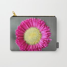 Blossom from a Daisy Isolated on Gray Background Carry-All Pouch