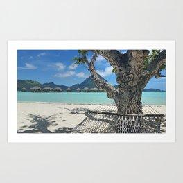 Bora Bora Hammock Art Print