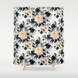 LANGUID AF Romantic Sexy Floral Shower Curtain