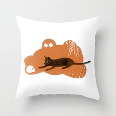Cat's Dream Throw Pillow