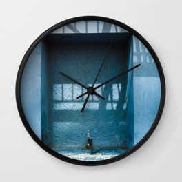 Blue Street Abstracts 6 Wall Clock