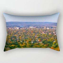 La Crosse from the bluff; Wisconsin Rectangular Pillow