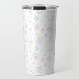 Baby Symbols Sketch - White Cloud Travel Mug
