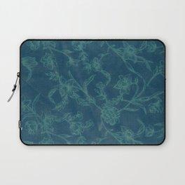 Flower Pattern (Green version) Laptop Sleeve