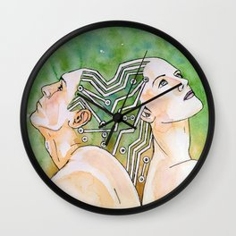 cyber connection Wall Clock