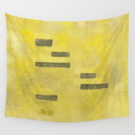 Stasis Gray & Gold 3 Wall Tapestry