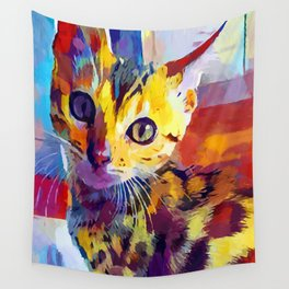 Bengal Cat Wall Tapestry