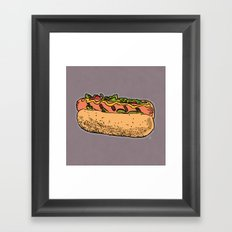 THERE'S ALWAYS TIME FOR A HOT-DOG! - LILAC Framed Art Print