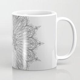 Gray Swirl Mandala light gray Coffee Mug