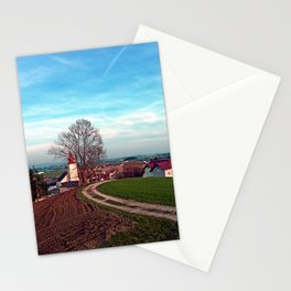 Hiking into springtime scenery   landscape photography Stationery Cards