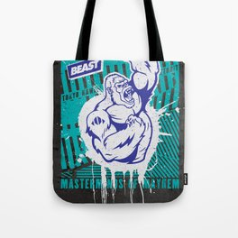 Mayhem Ape (Teal on Gun Metal) Tote Bag