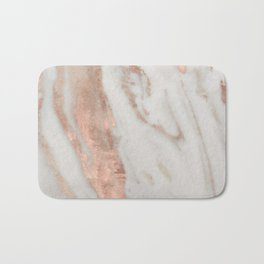 Marble Rose Gold Shimmery Marble Bath Mat