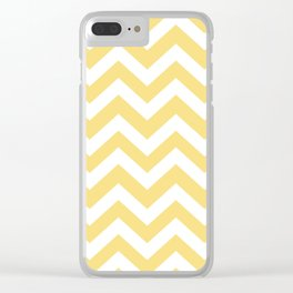 Mellow yellow - yellow color - Zigzag Chevron Pattern Clear iPhone Case