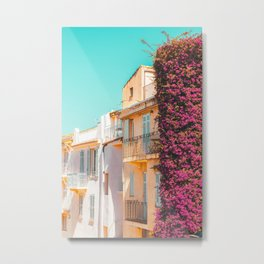 Cannes City Print, Summer Travel, Urban Architecture, Cannes France, Charming Houses, Home Decor Metal Print