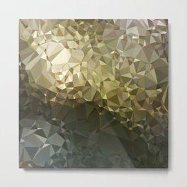 Low poly Earth tones Metal Print