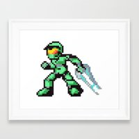 master chief Framed Art Prints featuring master chief by Walter Melon