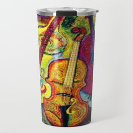 Rose Color Guitar String Instruments Travel Mug