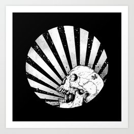 Kamikaze Skull Art Print