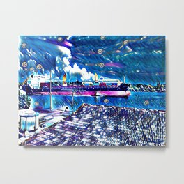 Midnight On The Bay Metal Print