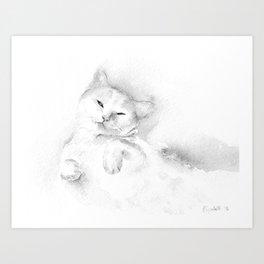 Playful Cat II Art Print