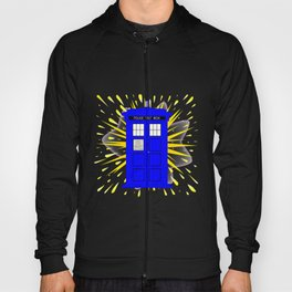 British Police Box With Abstract Explosion Hoody
