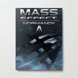 Mass Effect - Normandy SR2 Metal Print