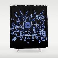 bmo Shower Curtains featuring BMO by Daniel Delgado