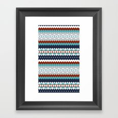Navajo Pattern Framed Art Print