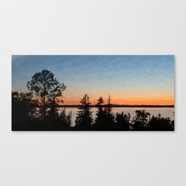 Sunset over Bellingham Bay Canvas Print