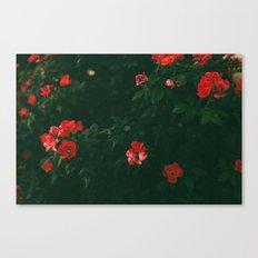 Green Flowers Canvas Print